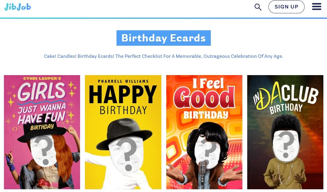 JibJab online birthday ecard maker