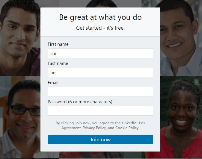 How to Sign up a LinkedIn Account Easily
