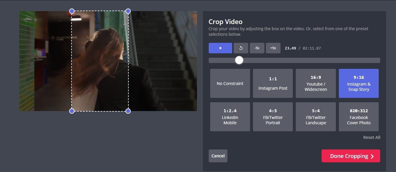 Kapwing  Crop YouTube video to IGTV