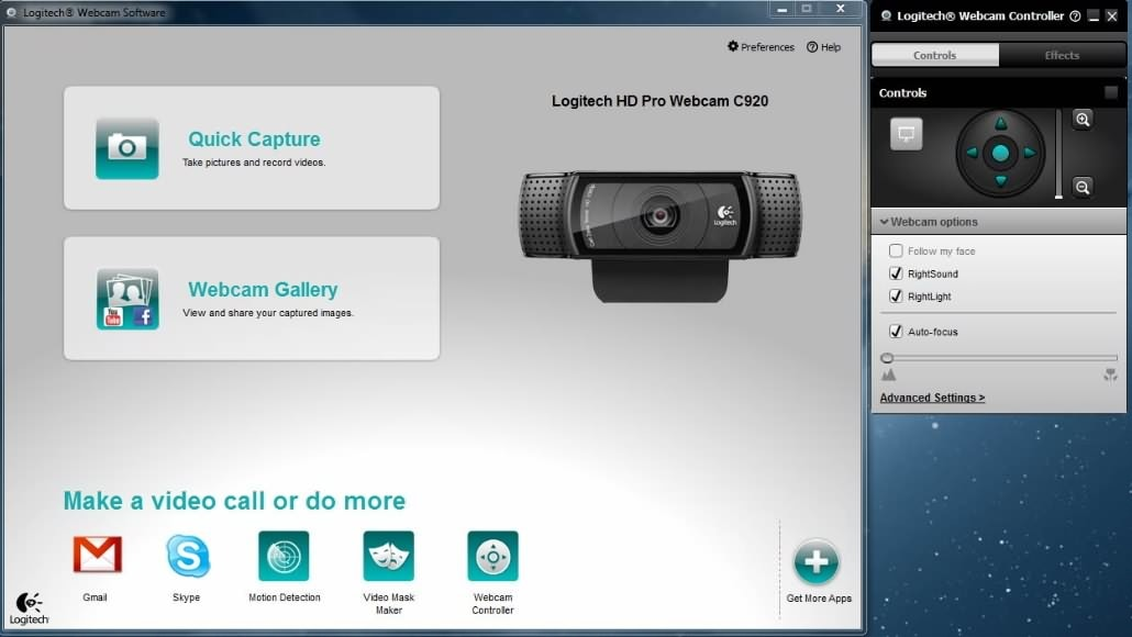 Logitech Webcam recording software