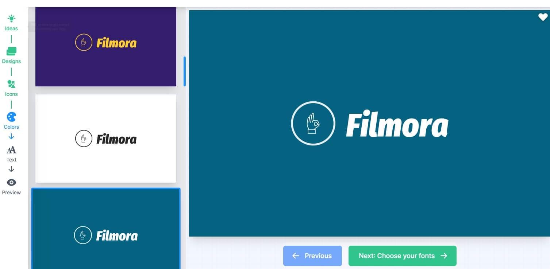 Logo.com editing interface