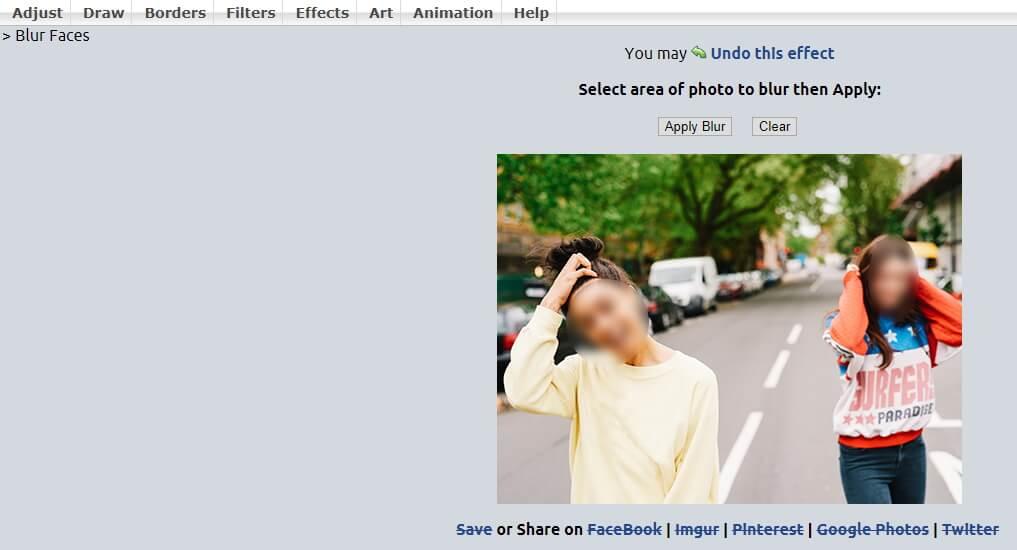 طمس الوجه على الإنترنت
