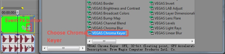 Vegas Chroma Keyer