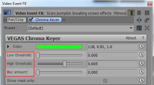 sony movie studio chroma key