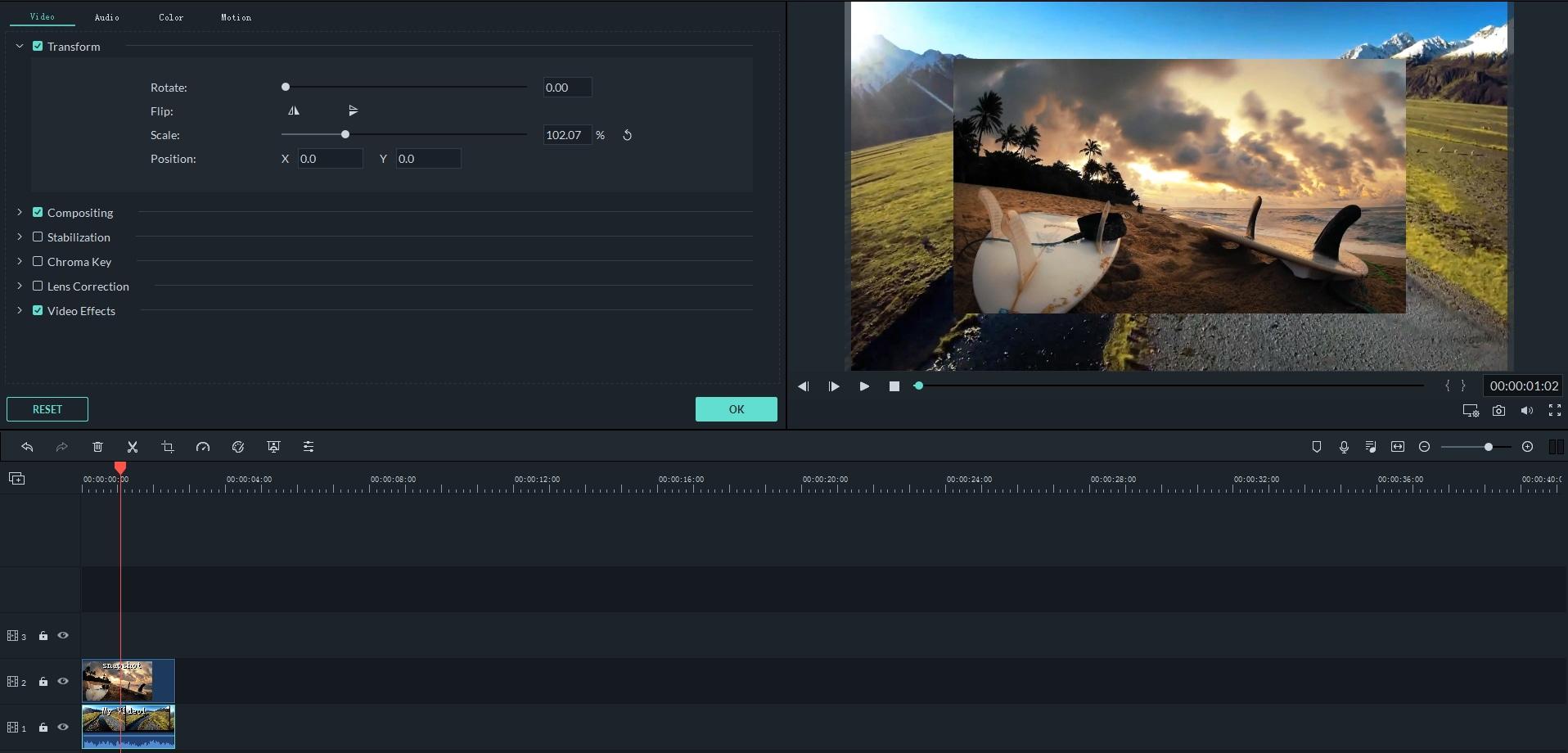Filmora9 Editing