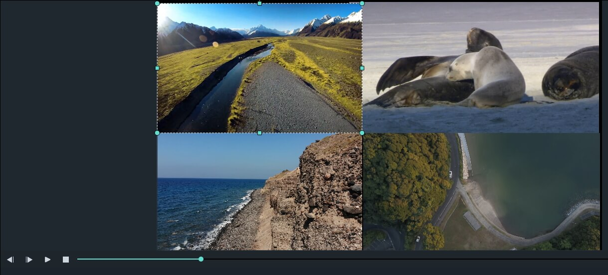 Filmora9 Making Split Screen without Presets