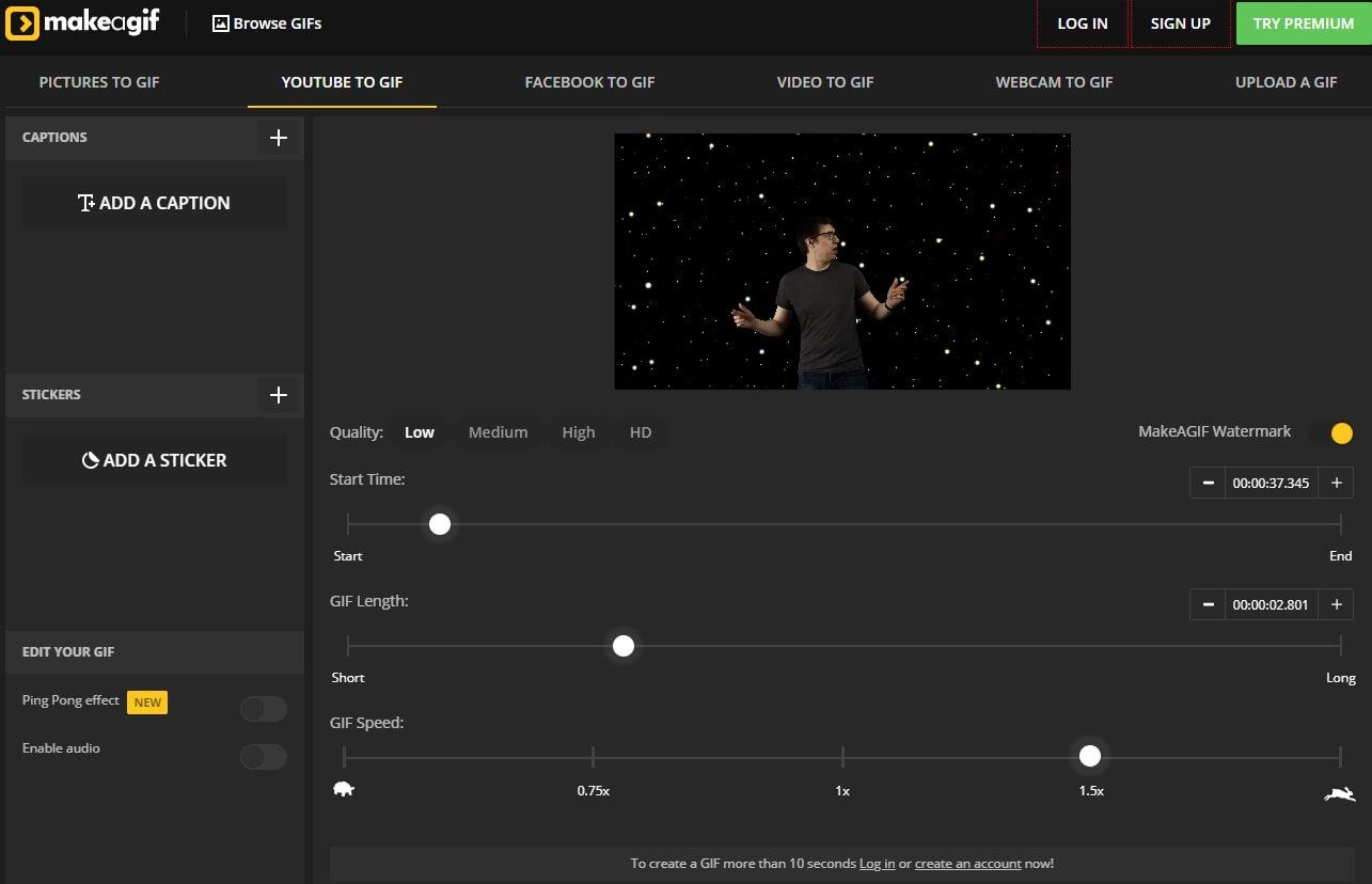 YouTube to GIFs  maker: Make A GIF