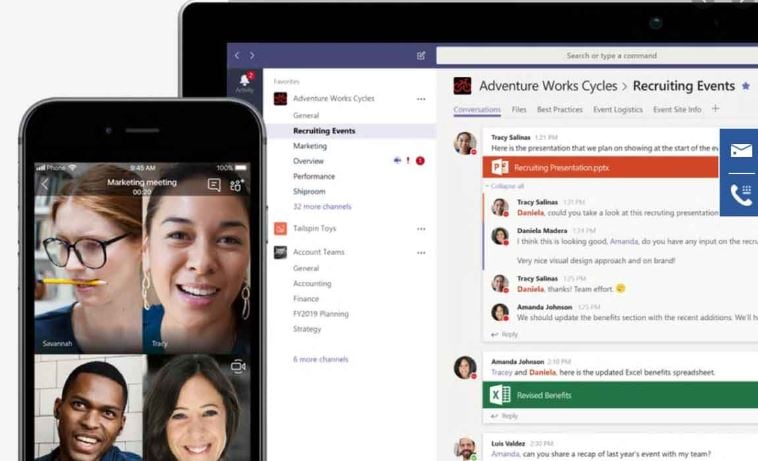Microsoft Teams for video calling
