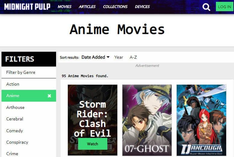 midnight pulp anime site