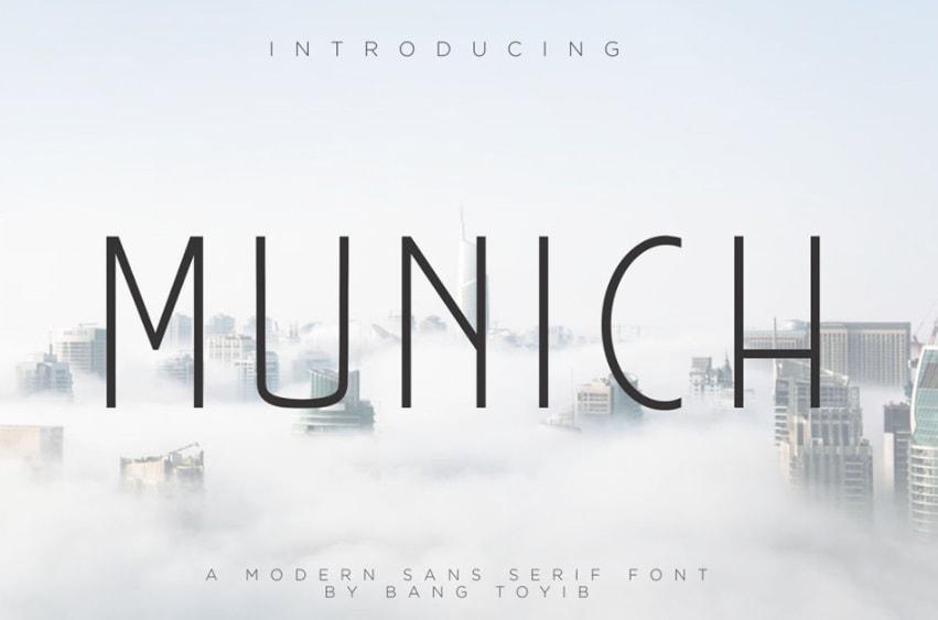 Modern Fonts Munich