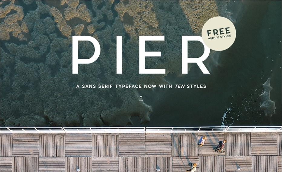 Modern Fonts Pier