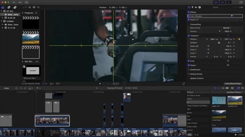 zoom und fokus in final cut pro