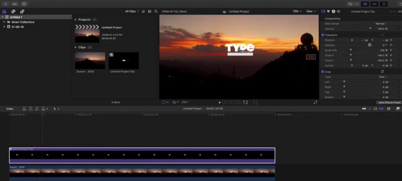 Text Motion Tracking in Final Cut Pro via Keyframes