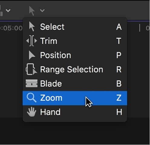 Zoom in Final Cut Pro