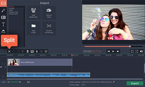 Movavi Video Editor Audio Edit