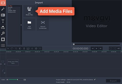 Movavi Add Files