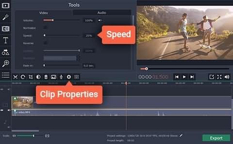 Movavi Video Editor Slow Motion