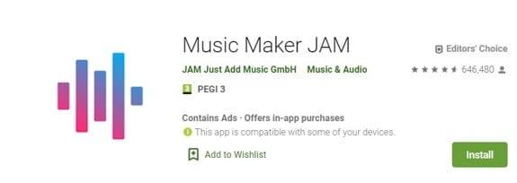Vocie Recorder App for Android -Music Maker JAM