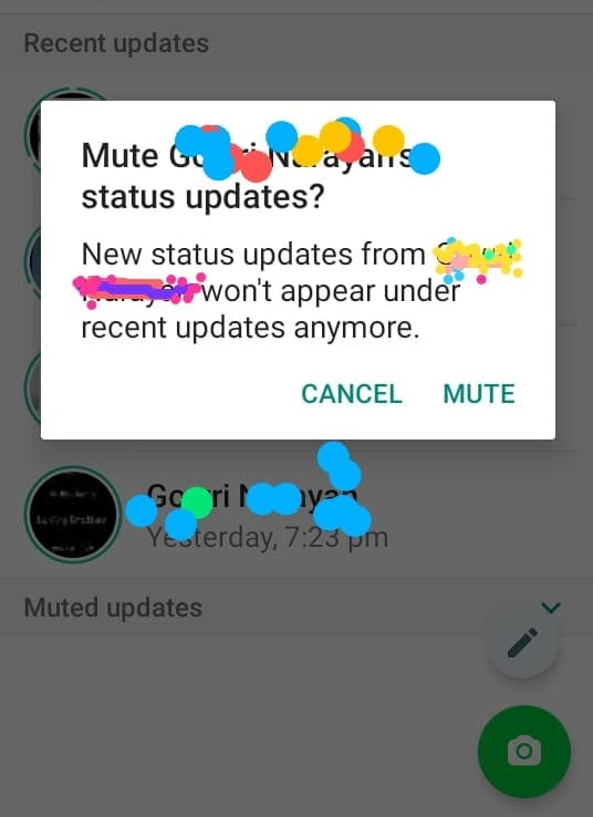 Mute Whatsapp Stories