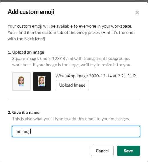 Name Slack Emoji