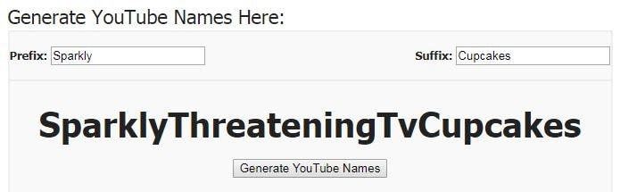 YouTube Name Generator