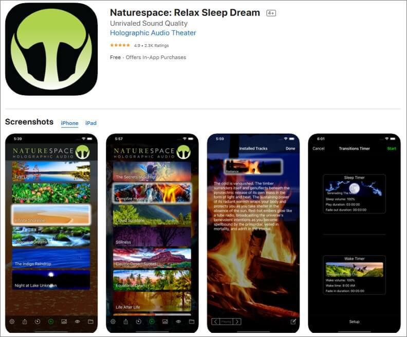 Naturespace: Sleep Relax Focus App