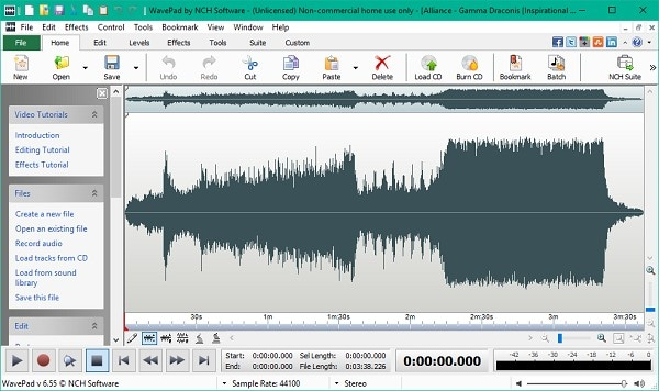 free music recording software interface