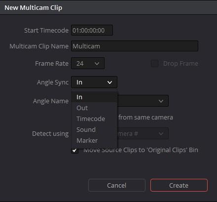 new multicam clip