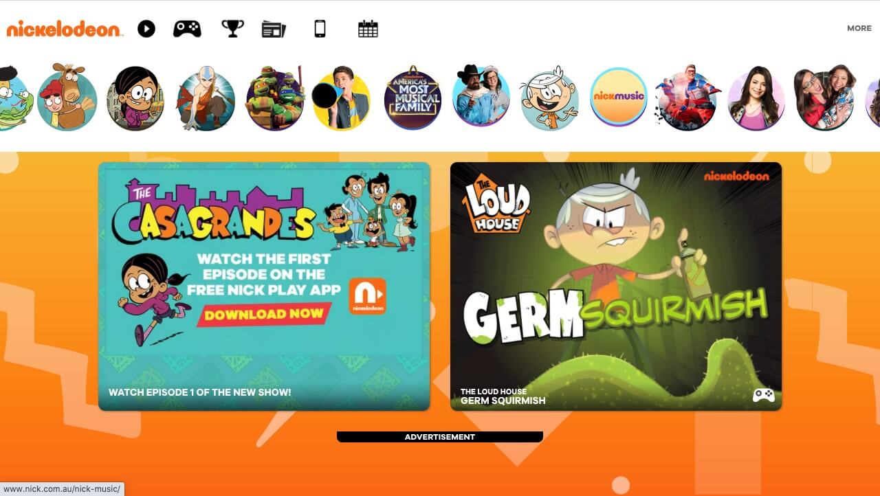 nickelodeon website