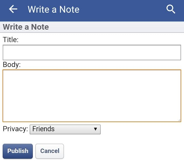 Optimize Facebook Notes
