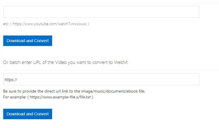 Vídeo do YouTube para WebM com Office-Converter
