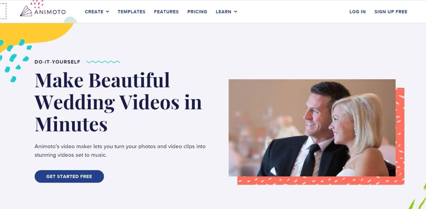 Animoto online wedding invitation video maker