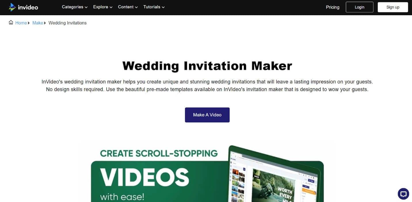 Invideo wedding slideshow maker