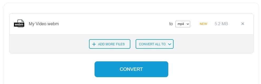 Convert WebM video to MP4 with Onlineconvertforfree