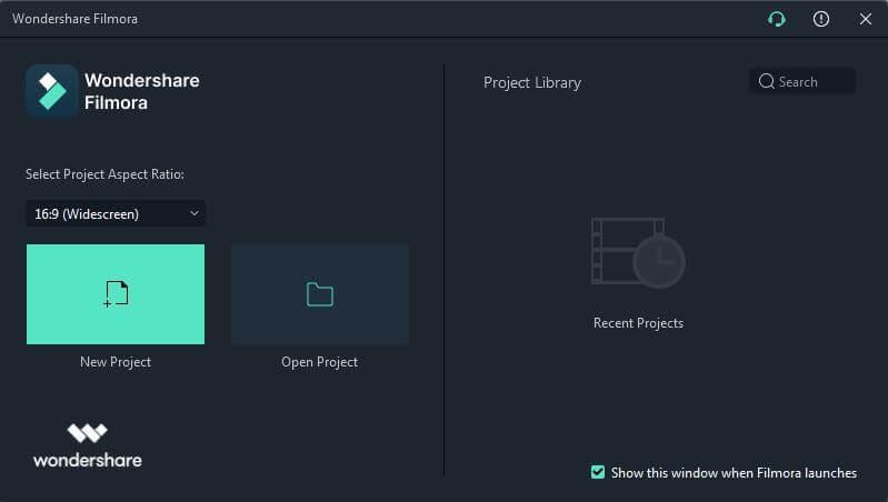 Open Filmora App