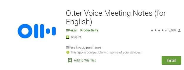 Vocie Recorder App for Android - Otter Voice Meeting Notes