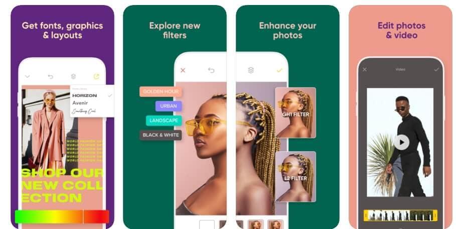 Trendige Apps in 2019 für iPhone - Over: Design/Flyer/Story Maker