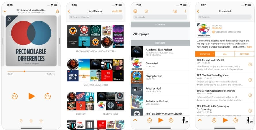 Best Podcast Player App - Overcast