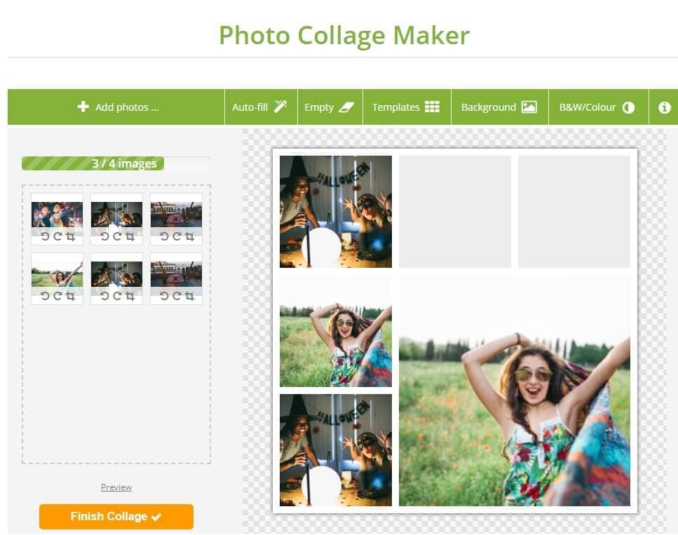 fabricante de colagem de fotos online