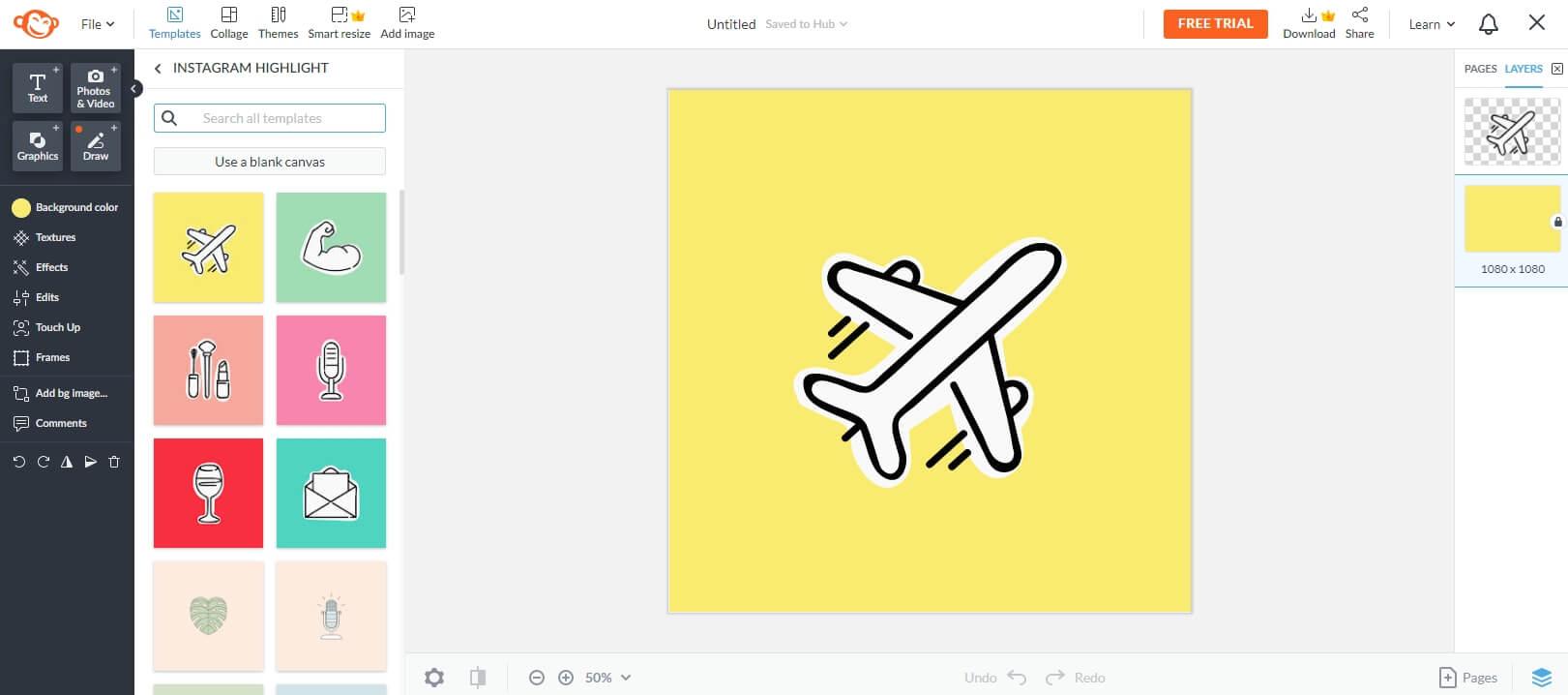 PicMonkey Online Instagram Highlight Cover Maker