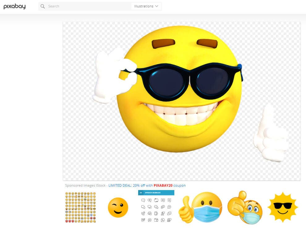 pixabay emoji website