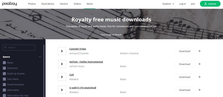 Pixabay Royal Free Music Podcast