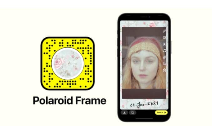 Most popular Snapchat filters and lens -Polaroid Frame