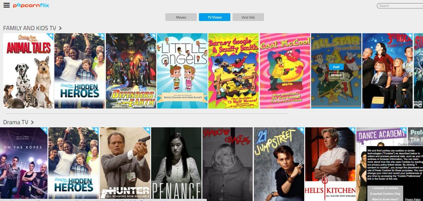 Popcornflix Web Series Site