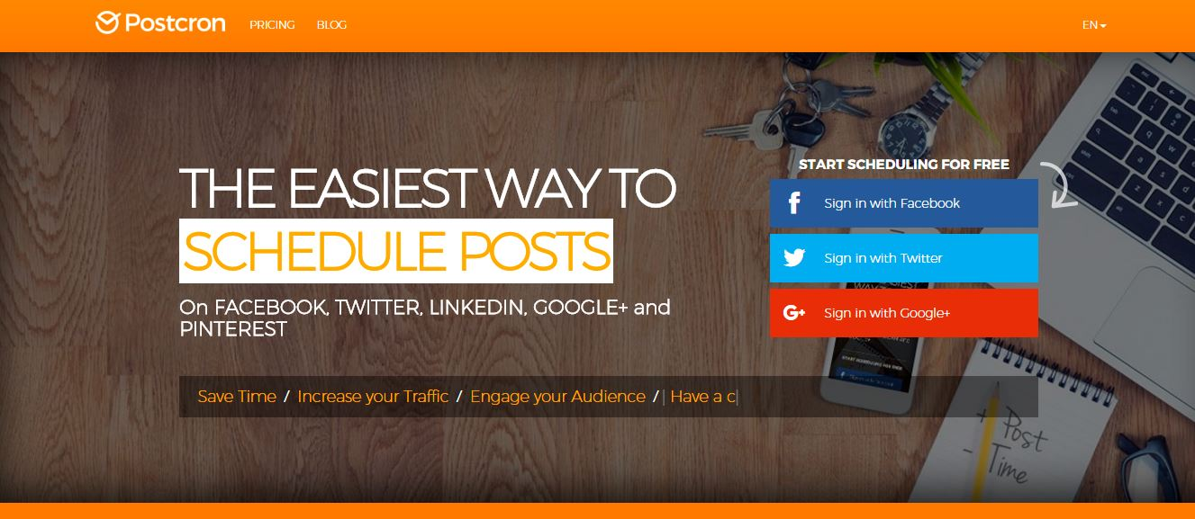 schedule linkedin posts by using postcorn