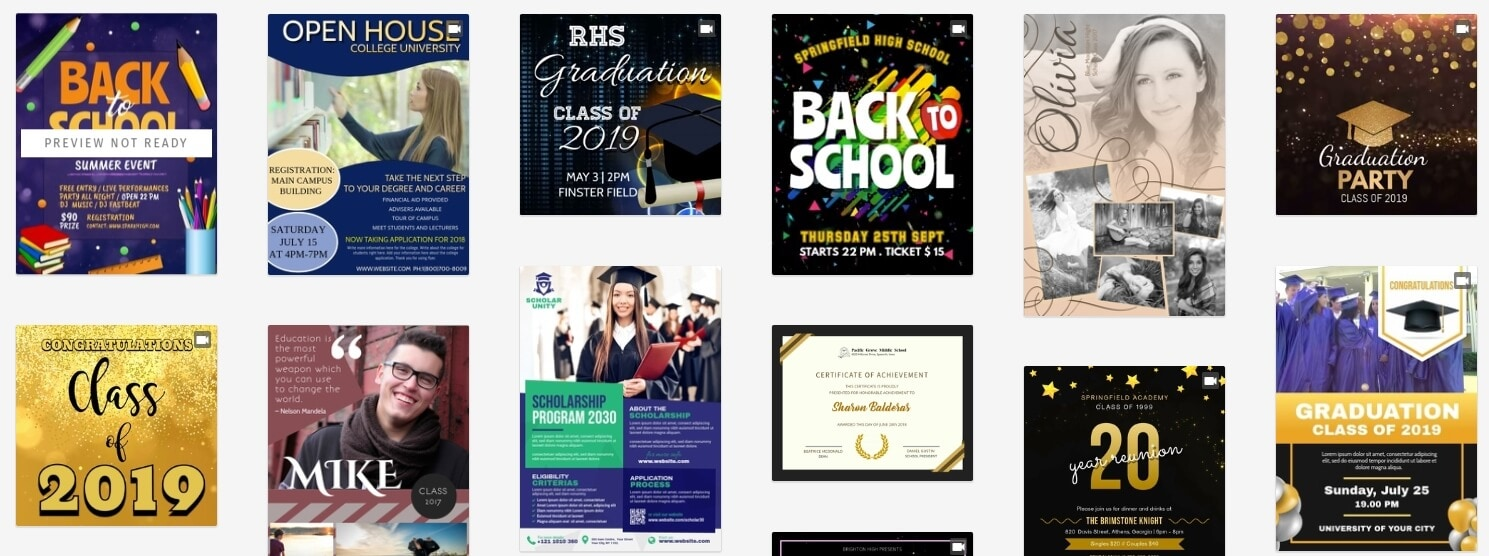 PosterMyWall Graduation Templates