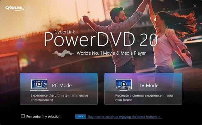 powerdvd 20 interface