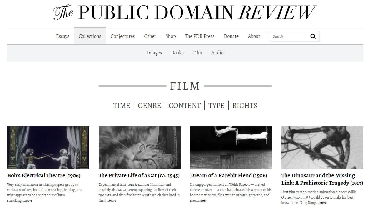 Public Domain Video Collections