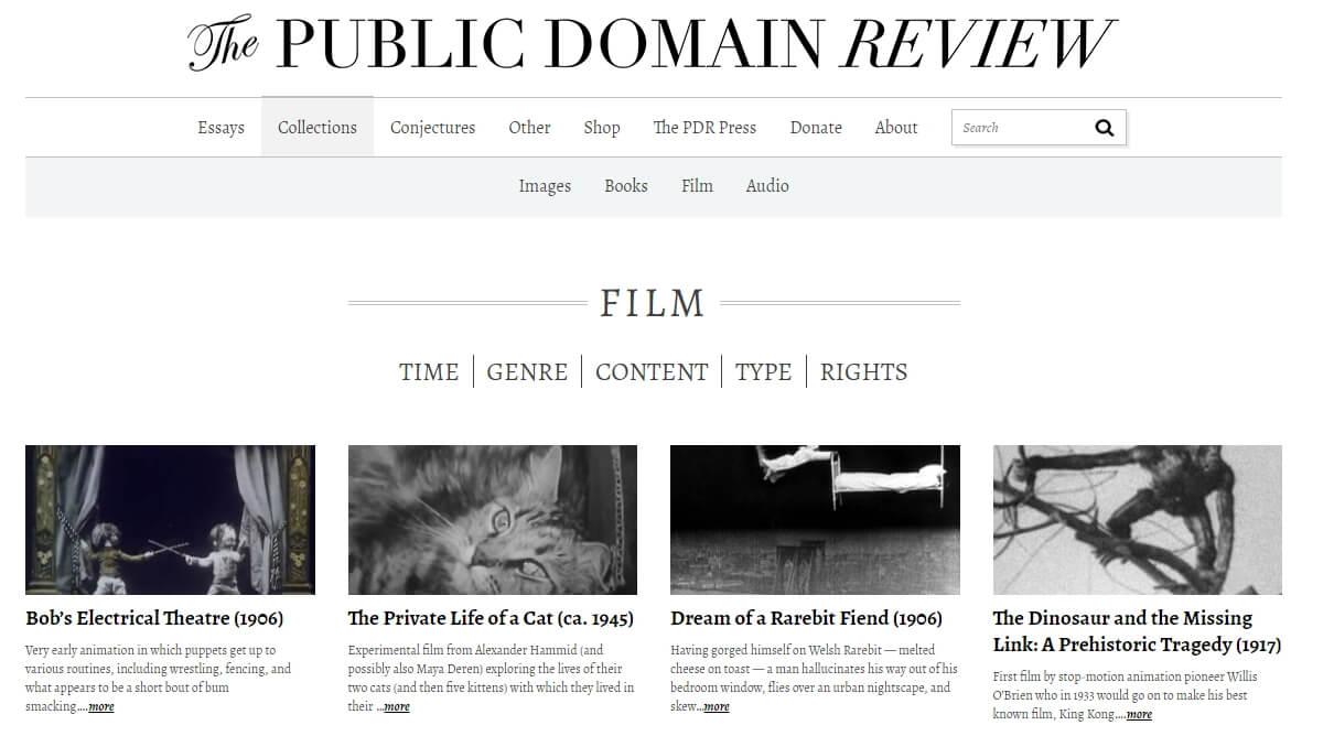 Colecciones de video de dominio público