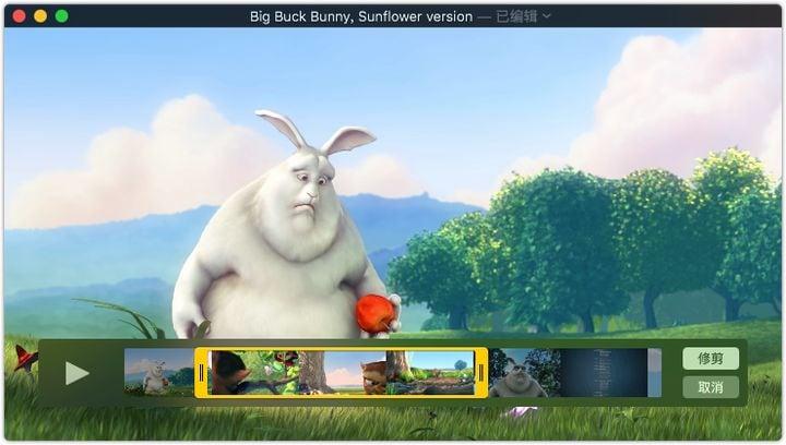 Trim video on QuickTime